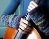 FREE PDF knitting pattern Fair Isle arm warmers - CelloKnits