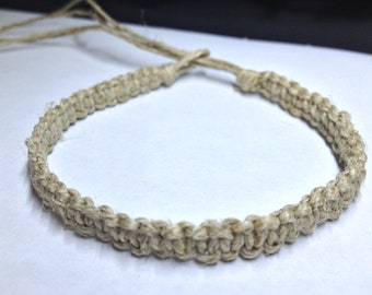 Basic, Flat, Light (Thin) Hemp Bracelet