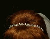 Rita Bridal Tiara - Bohemian Rhinestones - Wedding Head Band - Bridal Silver Hairband - Wedding Tiara - Bridal Headpiece - Crystal Tiara