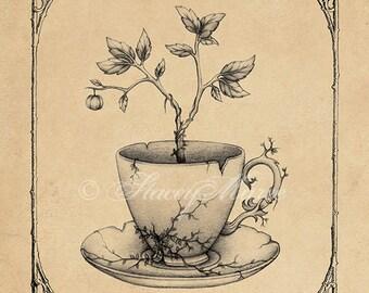 Tea Time - Fine Art Illustration - Print