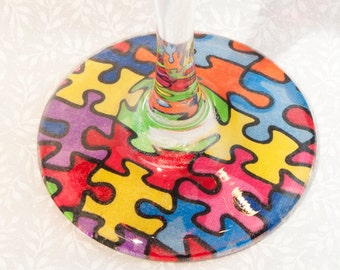 Puzzle piece wine glasses