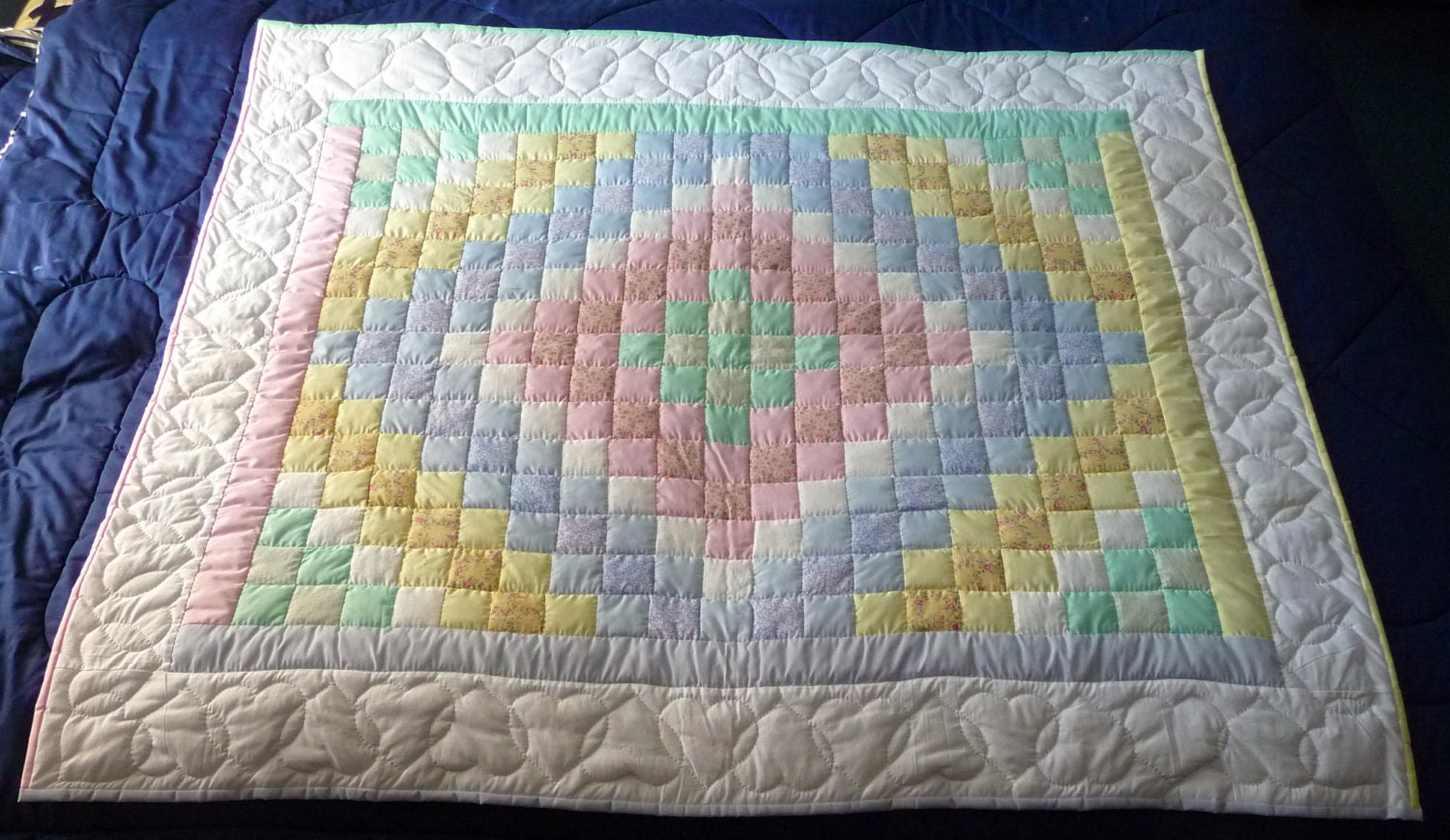 Quilt Pattern For Trip Around The World : Amish Baby Quilt Trip Around The World by QuiltsByAmishSpirit