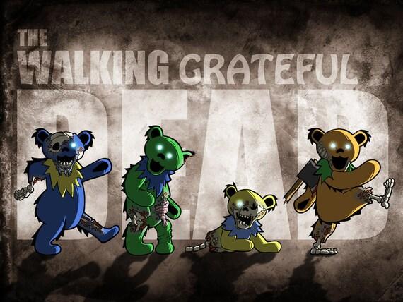 Grateful Dead T- Shirt ... Walking Dead Parody... Jerry Garcia