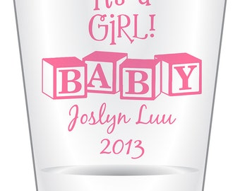 144 Custom Baby Shower Shot Glasses