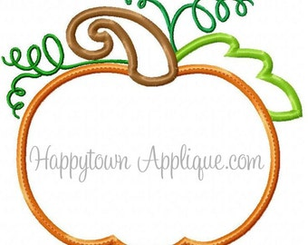 Pumpkin Appliqué Machine Embroidery Design