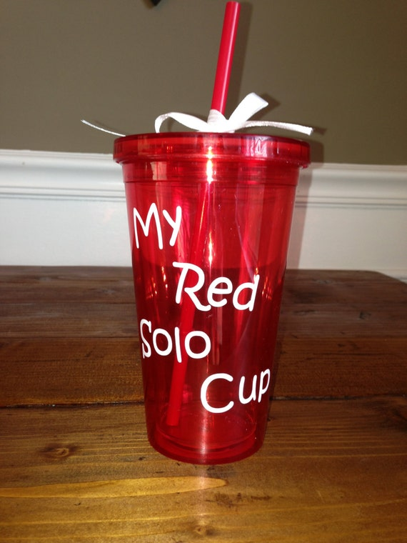 My Red Solo Cup Red Acrylic Tumbler With Lid And Straw