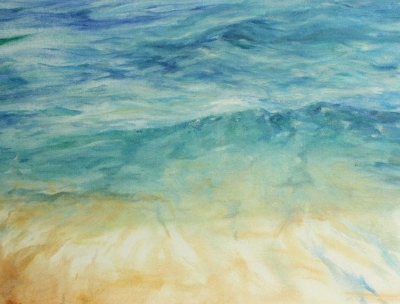 Ocean Waves Painting Abstract Ocean Art Original Oil
