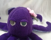 Purple Octopus Plush Anti-Pill Fleece