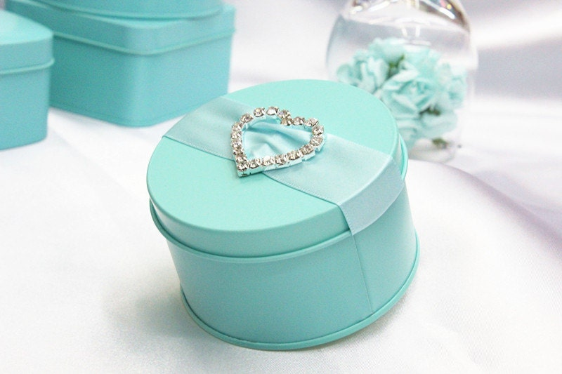 Wedding Gift Box Tiffany Blue : 50 pcs Tiffany blue Iron Wedding Favor Candy Box by sweetywedding