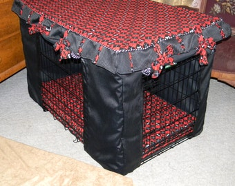 Dog Crate Cushion and Crate Cover set