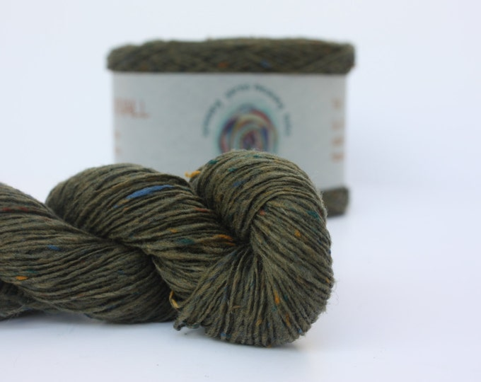 Spinning Yarns Weaving Tales - Tirchonaill 512 Moss Green 100% Merino Laceweight for Knitting, Crochet, Warp & Weft