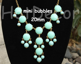 Mini Bubble necklace Aqua necklace Aqua jewelry Statement Necklace for women Bib necklace gift Beaded Necklace Chunky Necklace for holiday