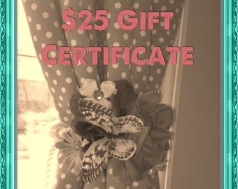 Gift Certificate For A MiniMissyDesigns Original Perfect Holiday Gift