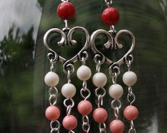 I love you chandelier earrings