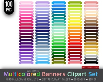 100 PNG Multicolored Banners, 3600x679px, digital banners, banners clipart, blog banners, digital, rainbow banners, card banners