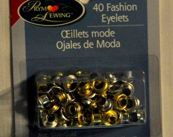 Gold and Silver Eyelets - 40 Count