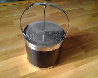 Vintage Black Ice Bucket