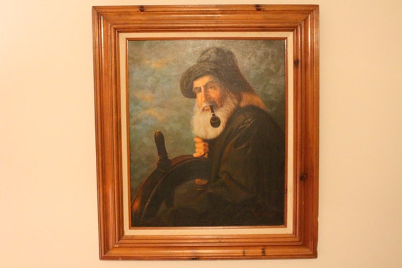 Items similar to sea captain oil painting by lee young on etsy for Lee s painting