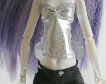 Dolls top clothes outfit  for Monster high doll    Silver  MH083
