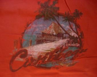 Vintage Caribbean Island Lifestyle Cotton Tshirt XL