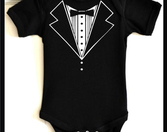 Baby tuxedo t-shirts in lots of colors and styles. Shop the widest select of tuxedo tees for babies.