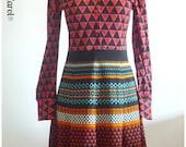 Vintage Dress Retro Jersey