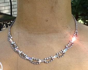 Unique rhinestone necklace