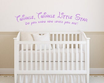 Twinkle, Twinkle, Little Star Children Decal - Vinyl Wall Decal Sticker