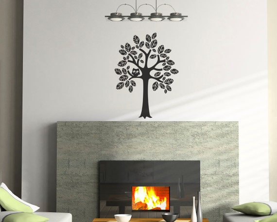 Tree Vinyl Wall Decal Size Small Tree Wall Decal Tree Art