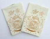 Honey set of two Tea Towel set