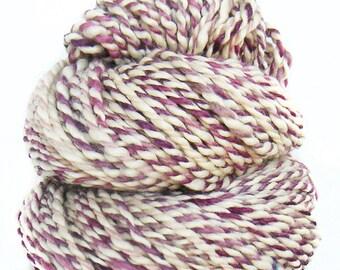 Handspun handdyed yarn BFL wool kidmohair silk