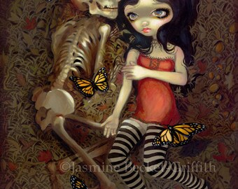 I'm Almost With You skeleton grave fairy art print by Jasmine Becket-Griffith 8x10
