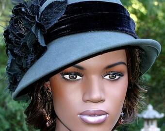 Flapper Hat Cloche Hat Downton Abbey Hat Gatsby Hat - Lady Marguerite