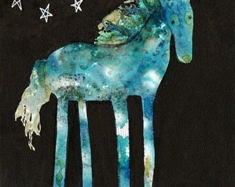 Midnight Painted Pony