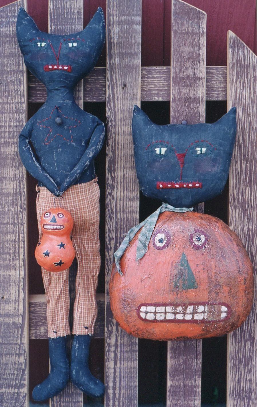 Primitive Halloween Pattern Epattern Pdf Black By