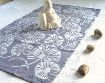 zen linen tea towel