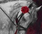 Horse Portrait - Equine Painting Print - PetPortraitsbyNC