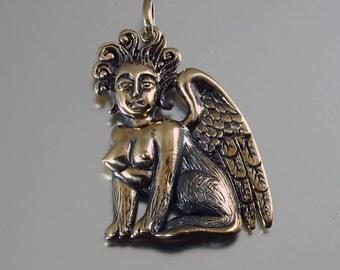 SPHINX bronze pendant - ready to ship