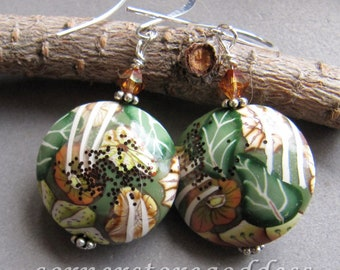 Stocking Stuffer Polymer Clay Flower Earrings by Cornerstoregoddess