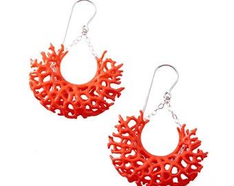 Vessel Earrings (3D-printed nylon)