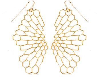 Radiolaria Earrings (gold)