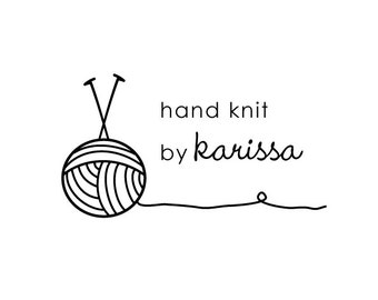 hand knit 2 rubber stamp