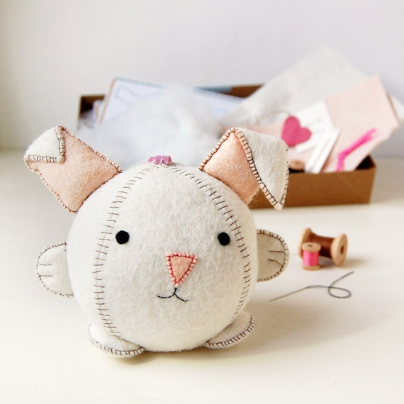 Rabbit Toy Craft Kit. Rabbit Sewing Kit. Rabbit Make Your Own Craft ...