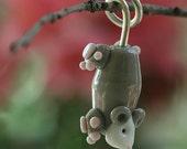 Lampwork Polly the Possum Pendant