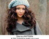 Instant Download Knitting Pattern - Womens Hat Pattern - Knit Hat Pattern for Soho Knit Beret Pattern - Womens Hat - Womens Accessories