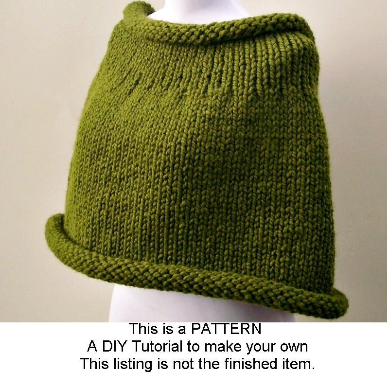 Knitted Capelet Pattern : Instant Download Knitting PATTERN PDF Knit Capelet Pattern