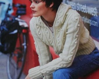 Knitting Patterns Sweaters Street Smart Patons 500989 FF Cardigan Women Hat Scarf Paper Original NOT a PDF