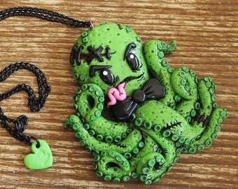 Zombie Octopus Necklace