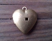 Four Vintage Brass Heart Locket. 20 mm. New Old Stock.