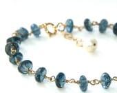 London Blue Topaz and 14k Goldfilled Bracelet